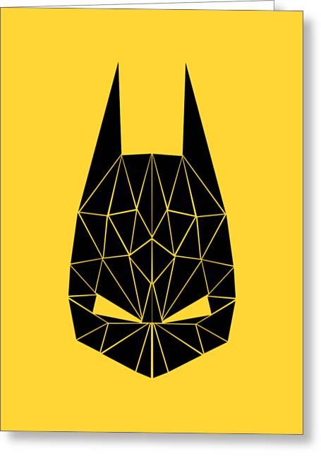 Geometrical Art Greeting Cards - Batman Greeting Card by Iveta S