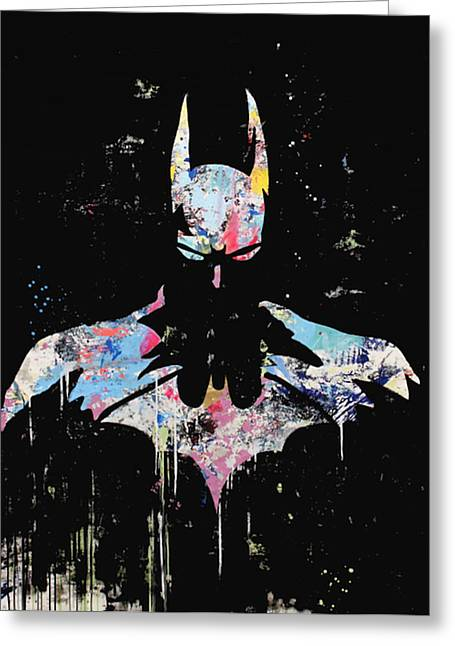 Jackie Kennedy Onassis Greeting Cards - Batman Greeting Card by Santiago Picatoste