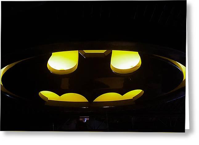 Batman Symbol Greeting Card by Britten Adams