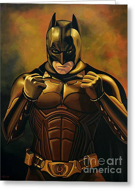 Bales Paintings Greeting Cards - Batman The Dark Knight  Greeting Card by Paul Meijering