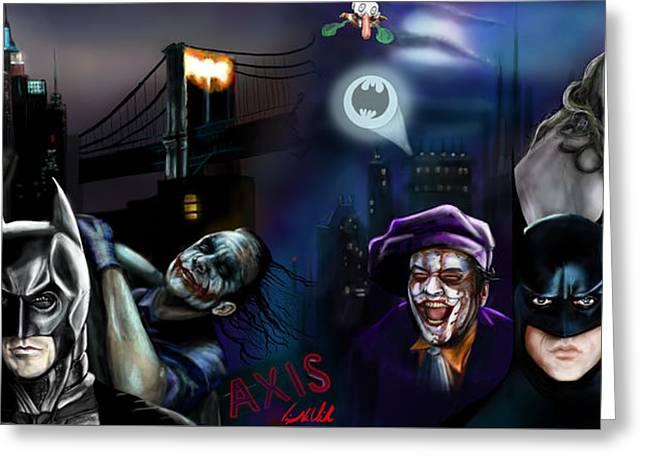 Batman Vs Batman Greeting Card by Vinny John Usuriello