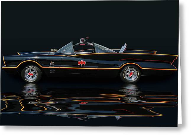Batmobile Greeting Card by Bill Dutting