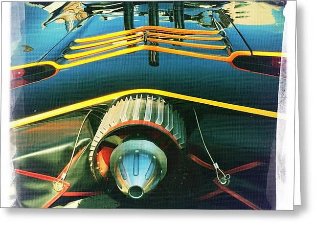 Batmobile Greeting Card by Nina Prommer