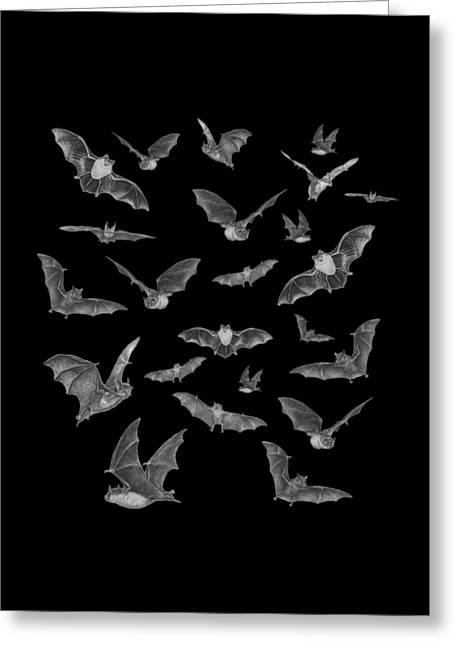 Creepy Digital Greeting Cards - Bats Greeting Card by Brian Wallace