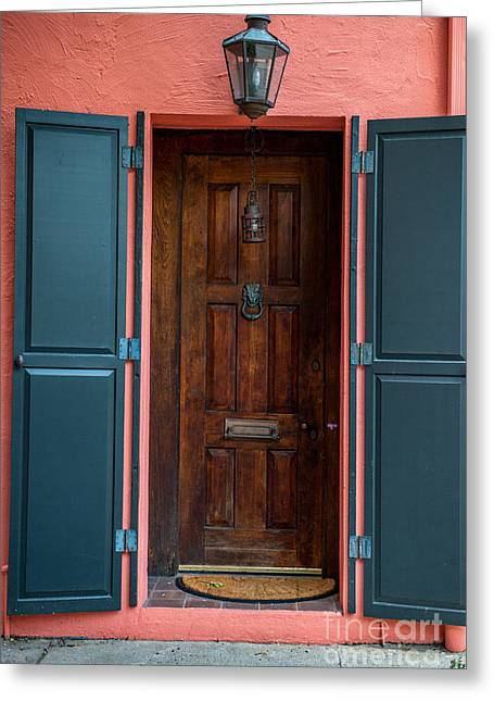 Entrance Door Greeting Cards - Batten Down the Hatches Greeting Card by Dale Powell