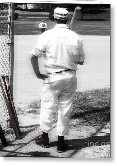 Baseball Game Greeting Cards - Batter on Deck  Greeting Card by Steven  Digman