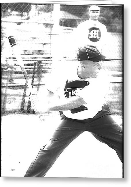 Baseball Uniform Greeting Cards - Batter Up  Greeting Card by Steven  Digman