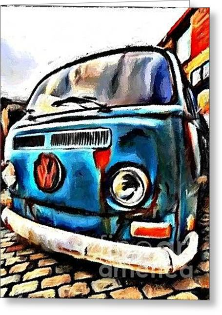 Battered Bay Greeting Card by S Poulton