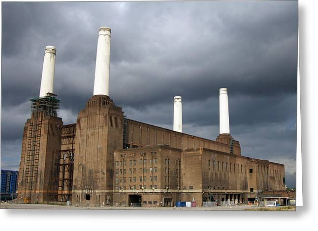 Industrial Icon Photographs Greeting Cards - Battersea Power Station, London, Uk Greeting Card by Johnny Greig