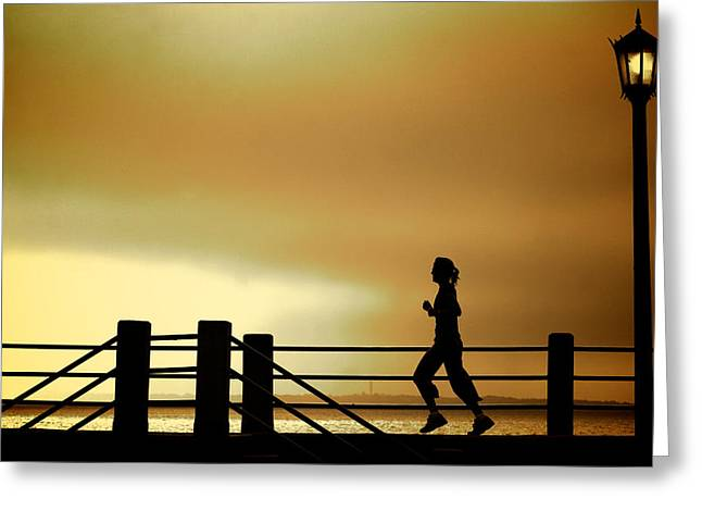 Jogging Photographs Greeting Cards - Battery Days Greeting Card by Patrick Biestman