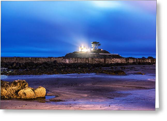 Historic Site Greeting Cards - Battery Point Lighthouse Greeting Card by Joseph S Giacalone