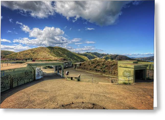 Marin County Greeting Cards - Battery Spencer at Fort Baker - Marin Headlands California Greeting Card by Jennifer Rondinelli Reilly