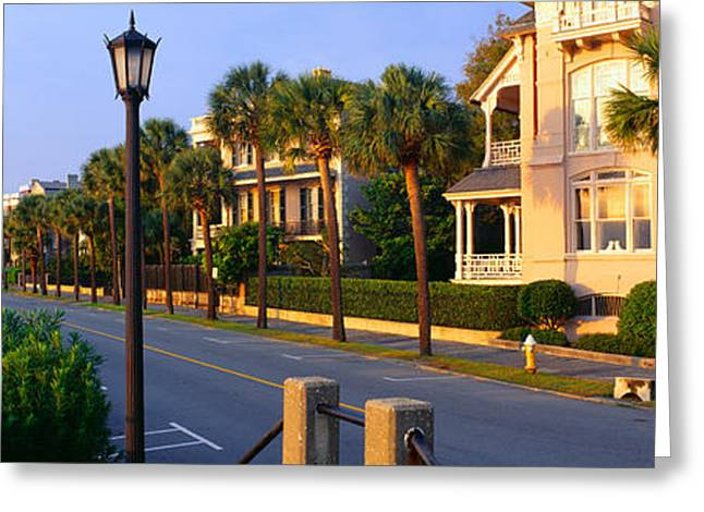 Battery Street Waterfront, Charleston Greeting Card by Panoramic Images