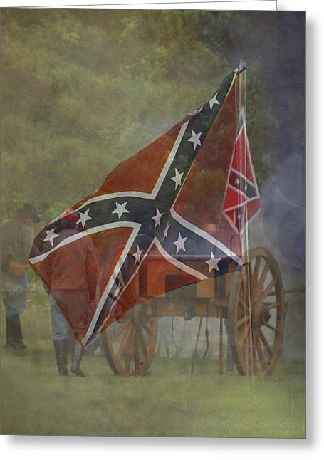 Confederate Flag Greeting Cards - Battle Cry Greeting Card by TnBackroads Photography
