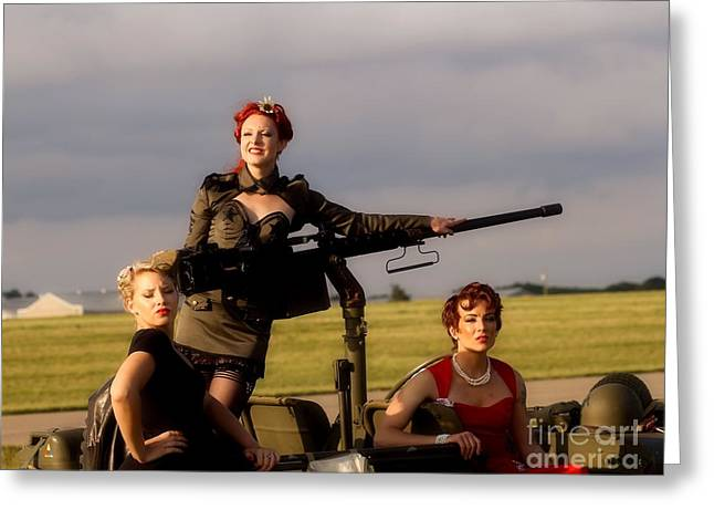 Sexy Women Framed Prints Greeting Cards - Battle Field Ready Greeting Card by Jimmy Ostgard