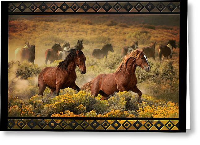 The Horse Greeting Cards - Battle Ground Greeting Card by Marilyn Gregory