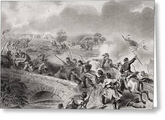 Engagement Picture Greeting Cards - Battle Of Antietam Near Sharpsburg Greeting Card by Ken Welsh