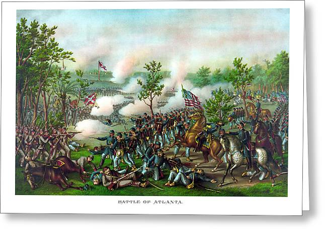 Battle Greeting Cards - Battle Of Atlanta Greeting Card by War Is Hell Store