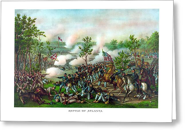 Battlefields Greeting Cards - Battle Of Atlanta Greeting Card by War Is Hell Store