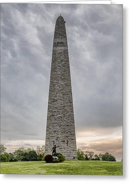 Burgoyne Greeting Cards - Battle of Bennington Monument Greeting Card by Stephen Stookey