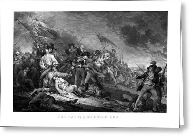 Revolutions Greeting Cards - Battle of Bunker Hill Greeting Card by War Is Hell Store