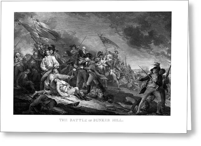 Continental Greeting Cards - Battle of Bunker Hill Greeting Card by War Is Hell Store
