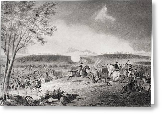 Division Drawings Greeting Cards - Battle Of Chancellorsville Virginia Greeting Card by Vintage Design Pics