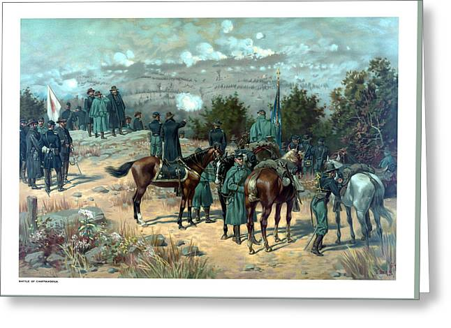 North Mixed Media Greeting Cards - Battle Of Chattanooga Greeting Card by War Is Hell Store