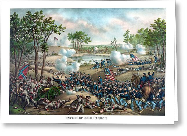 Cold Greeting Cards - Battle of Cold Harbor Greeting Card by War Is Hell Store