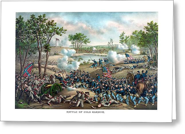 North Mixed Media Greeting Cards - Battle of Cold Harbor Greeting Card by War Is Hell Store