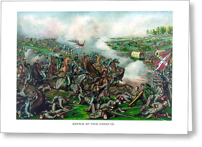 Phil Greeting Cards - Battle of Five Forks Greeting Card by War Is Hell Store