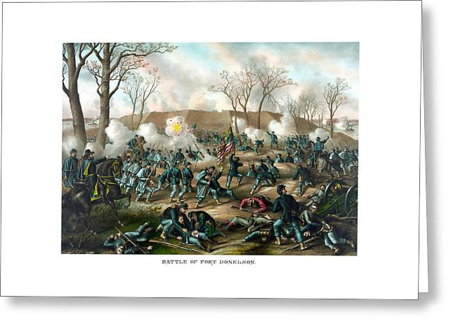 Battle Of Fort Donelson Greeting Card by War Is Hell Store