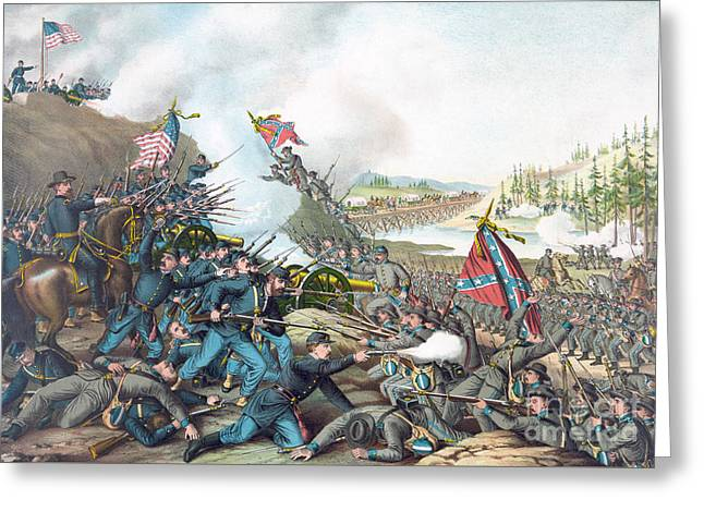 Battle Of Franklin Greeting Card by American School