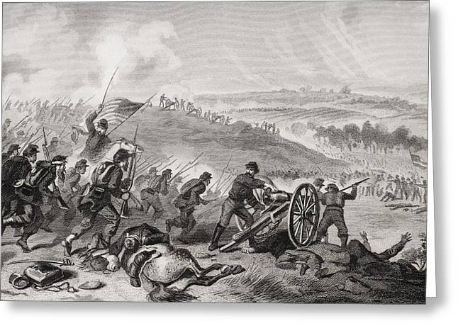 Engagement Picture Greeting Cards - Battle Of Gettysburg Pennsylvania July Greeting Card by Ken Welsh
