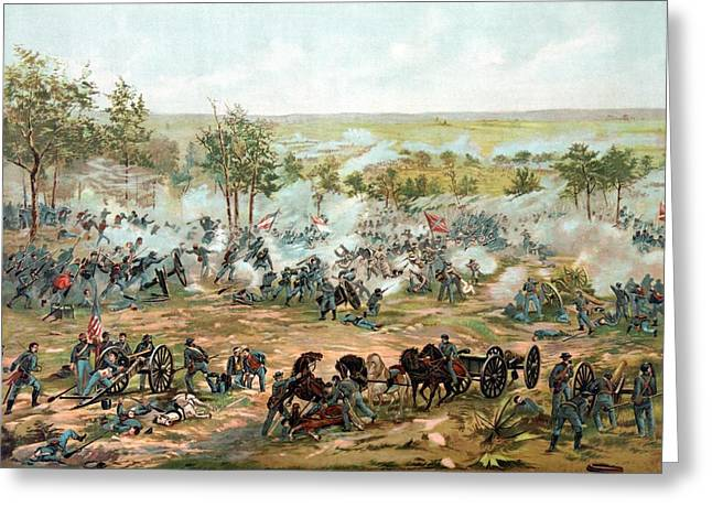 Stored Greeting Cards - Battle of Gettysburg Greeting Card by War Is Hell Store