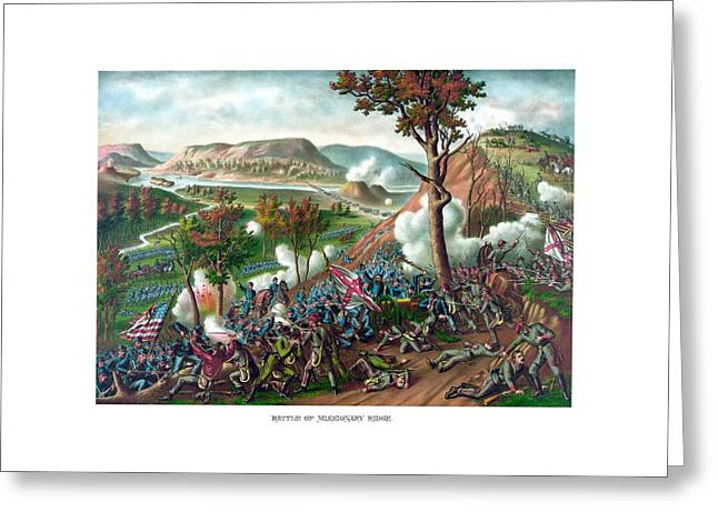 Battle Of Missionary Ridge Greeting Card by War Is Hell Store