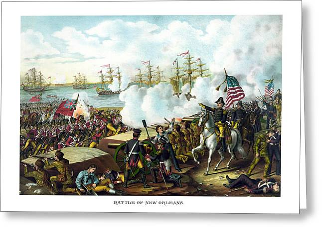 """american Flag"" Greeting Cards - Battle of New Orleans Greeting Card by War Is Hell Store"