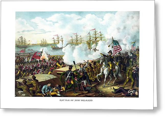 American Flags Greeting Cards - Battle of New Orleans Greeting Card by War Is Hell Store