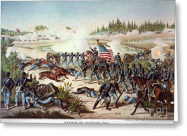African-american Greeting Cards - Battle Of Olustee, 1864 Greeting Card by Granger