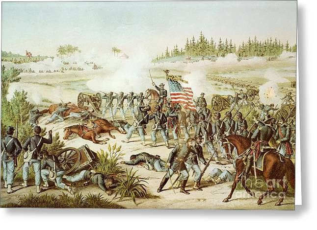 Wounded Greeting Cards - Battle of Olustee Greeting Card by American School