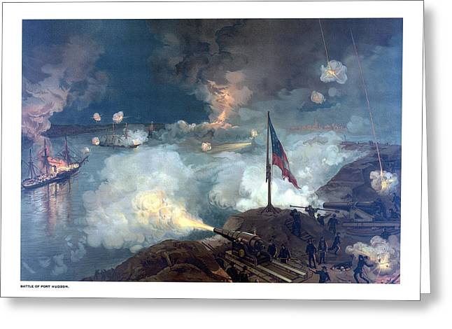Battle Greeting Cards - Battle of Port Hudson Greeting Card by War Is Hell Store