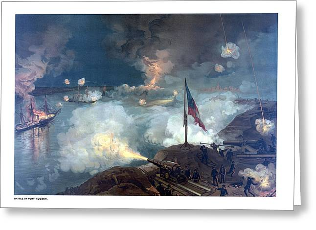 North Sea Greeting Cards - Battle of Port Hudson Greeting Card by War Is Hell Store