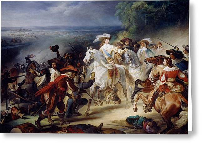 Battle Of Rocroy Greeting Card by Francois Joseph Heim
