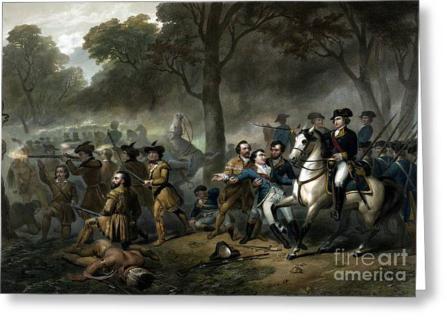 Battle Of The Monongahela, 1755 Greeting Card by Science Source