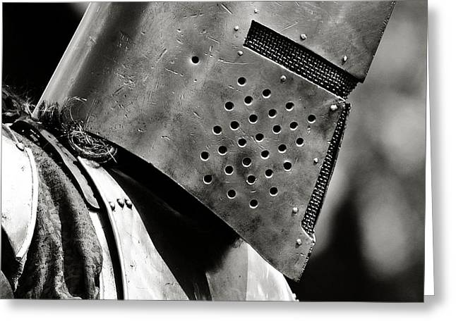 Jousting Greeting Cards - Battle Ready Greeting Card by Scott Hovind