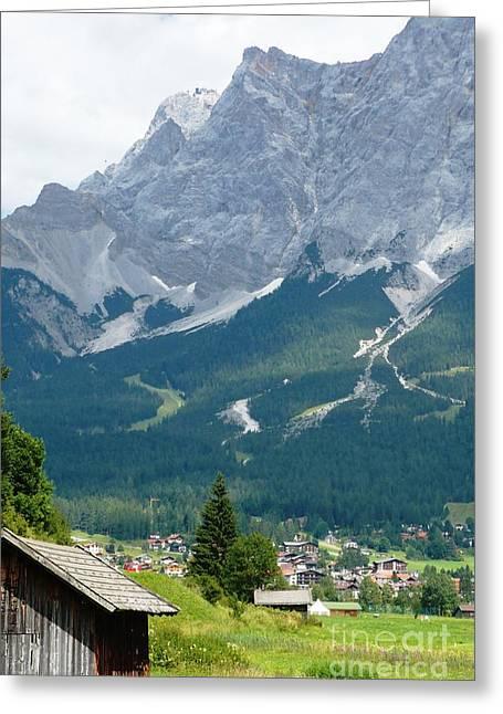Carol Groenen Greeting Cards - Bavarian Alps with Shed Greeting Card by Carol Groenen