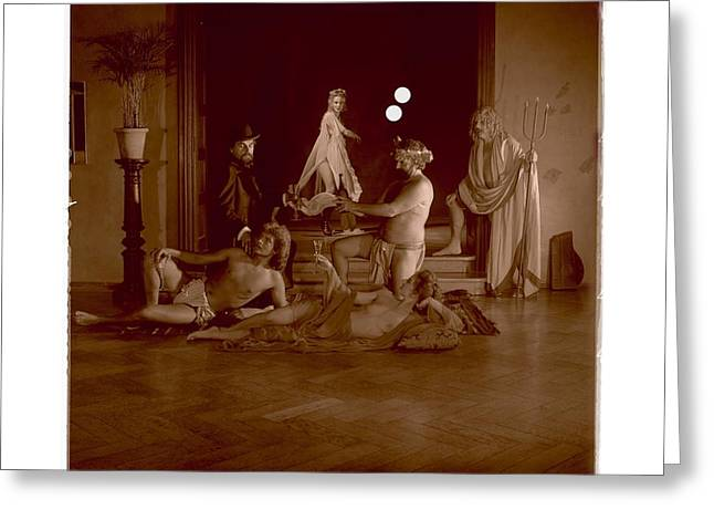 Federer Art Greeting Cards - The Bavarian Twilight of the Gods / 2 Greeting Card by Jean-Marie Bottequin