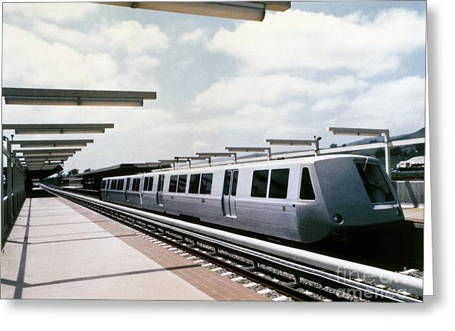 1981 Photographs Greeting Cards - Bay Area Rapid Transit Greeting Card by Granger