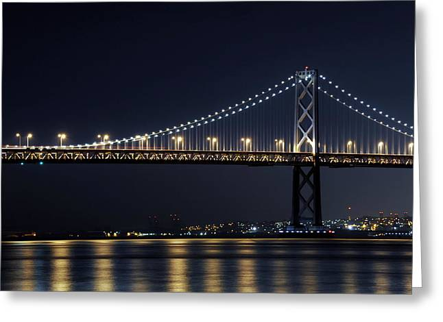 Bay Bridge Greeting Cards - Bay Bridge Greeting Card by Catherine Lau