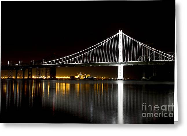 Bay Bridge Greeting Cards - Bay Bridge San Francisco California Greeting Card by ELITE IMAGE photography By Chad McDermott